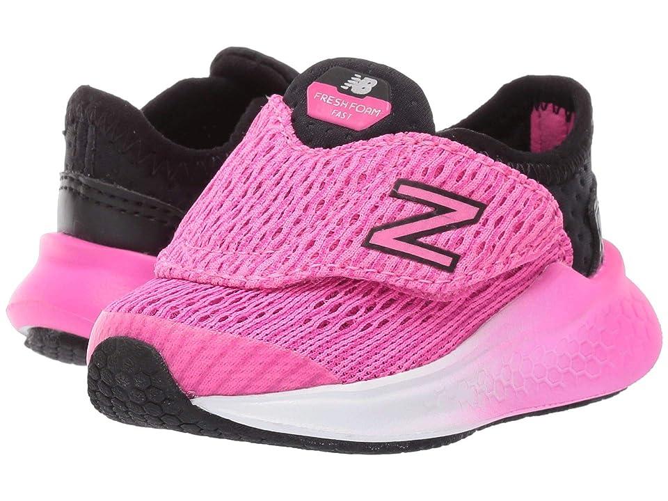 New Balance Kids Fresh Foam Fast (Infant/Toddler) (Black/Peony) Girls Shoes