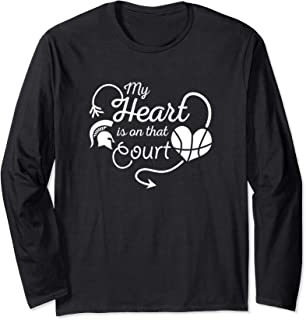 Michigan State Spartans My Heart Is On That Court T-Shirt