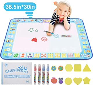 KATUMO Water Doodle Mat, Extra Large Water Drawing Mat Kids Magic Doodle Board Painting Writing Pad Educational Toy Gift for Kids/Toddlers Learning Painting Coloring, Age 3+, 38.5