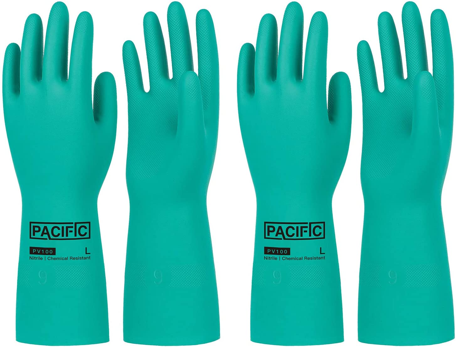 Award PACIFIC PPE 2 Colorado Springs Mall Pairs Nitrile Resistant Flocked Chemical Gloves