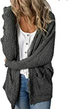 Mafulus Womens Fleece Cardigans Oversized Open Front Long Sleeve Casual Cardigan Sweaters