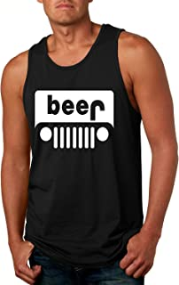 Men's Tank Top Beer Jeep Funny Drinking Shirt