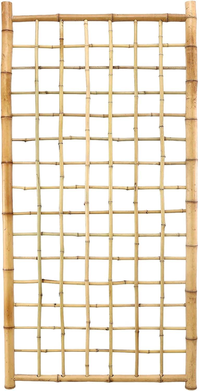 Bambus-discount  Bambus Rankgitter Ten New Line4 180x90cm, Spalier aus 20 Bambusrohren Sichtschutzwand Sichtschutzelement Sichtschutz Gartenzaun Zaunelement Sichtschutzwnde Gartenzune