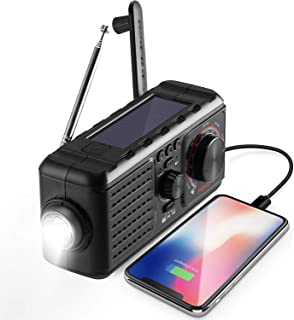 Weather Radio for Emergency with AM/FM Flashlight Read Lamp