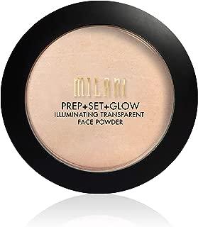 Milani Prep + Set + Glow Illuminating Transparent Face Powder (0.3 Ounce) Vegan, Cruelty-Free Primer & Setting Powder - Highlight Skin & Set Makeup for Long-Lasting Wear