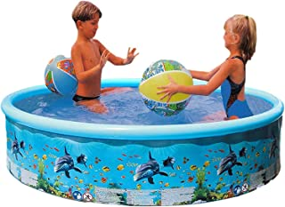 Swimming Pools for Kids Sea World Pattern, Round Swimming Pool, Resistant PVC Plastic Keep Cool Swimming Pools for Kiddie ...