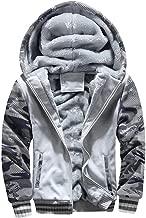 Cebbay Liquidación Outwear de los Hombres Bolsillo de Camuflaje con Cremallera para Invierno cálido Sudadera con Capucha Sudadera con Capucha Slim Design Top