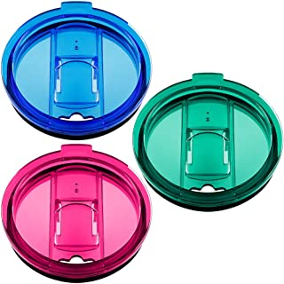 30 oz Tumbler Lids Set of 3 Fit for YETI Rambler, Ozark Trail, Rtic and More, maxin Spill Proof and Splash Resistant Lids Covers