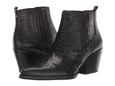 Sam Edelman Winona (Black Abria Soft Croco Leather) Women