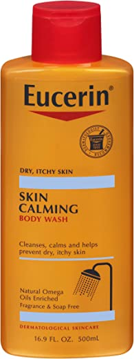Eucerin Skin Calming Body Wash - Cleanses and Calms to Help Prevent Dry, Itchy Skin - 16.9 fl. oz. Bottle