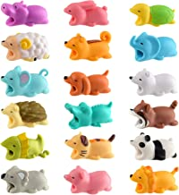 TUPARKA 18 PCS Animal Cable Protector Cute Animal Bites, Charger Cord Saver USB Charging Cable Protector Works with Most Cell Phone Charging Cable