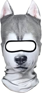 WTACTFUL 3D Stand Ears Animal Balaclava Face Mask for Music Festivals, Raves, Ski, Halloween, Party Outdoor Activities