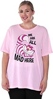 Womens Plus Size T-Shirt Choose Print Cheshire Cat OR Alice in Wonderland
