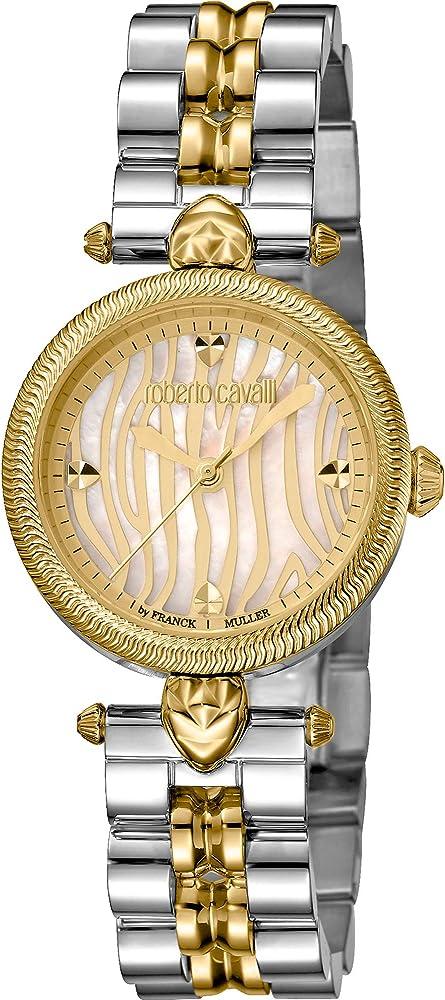 Roberto cavalli by franck muller orologio elegante per donna,in acciaio inossidabile bicolore RV1L071M0111