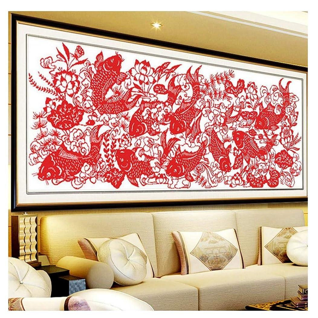 Cross Stitch, Fish, Paper Cutting, Chinese Style, C0081