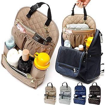 マザーズリュック リュックインバッグ 縦型 バッグインバッグ マザーズバッグ リュック 整理 リュックインバック ストレスフリー monloulou モンルル (ネイビー)