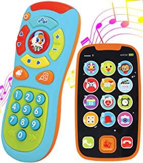 My Learning Remote and Phone Bundle with Music, Fun, Smartphone Toys for Baby, Infants, Kids, Boys or Girls Birthday Gifts...