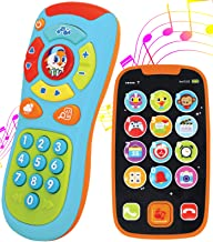 My Learning Remote and Phone Bundle with Music, Fun, Smartphone Toys for Baby, Infants, Kids, Boys or Girls Birthday Gifts, Holiday Stocking Stuffers Present