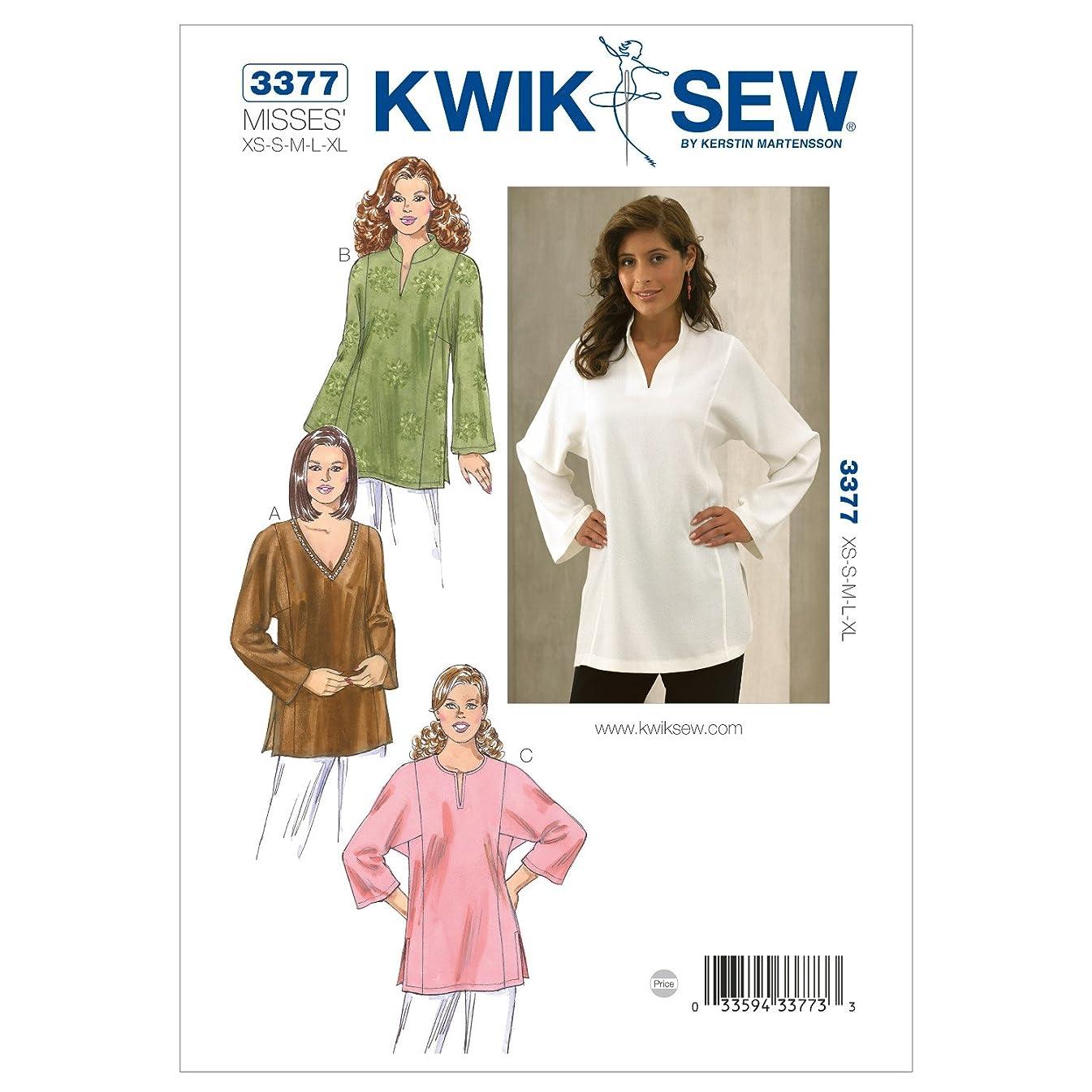 Kwik Sew K3377 Tunics Sewing Pattern, Size XS-S-M-L-XL