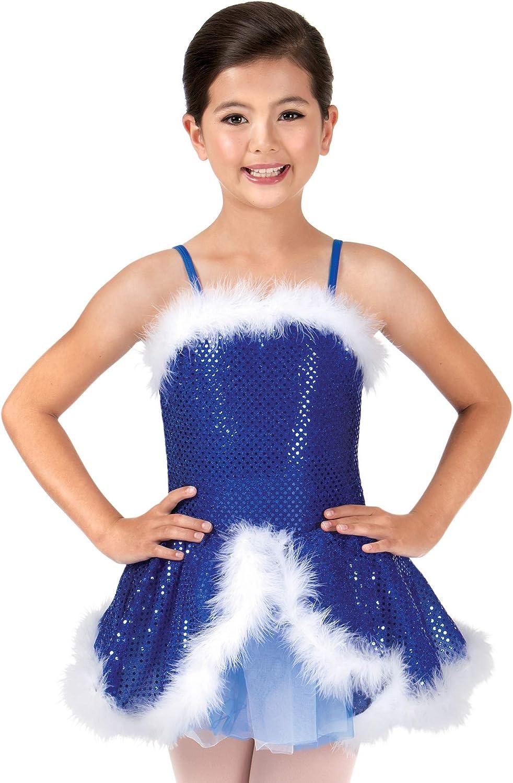 Fashion La Petite Ballerina Child Costum Sequin Industry No. 1 Camisole Feather-Trimmed