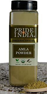 Sponsored Ad - Pride Of India- Organic Amla(Indian Gooseberry) Ground- 20 oz(567 gm) Dual Sifter Jars- Certified Pure & Ve...