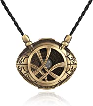 XOFOAO Doctor Strange Necklace Eye of Agamotto Costume Prop Stone Pendant Glow in The Dark