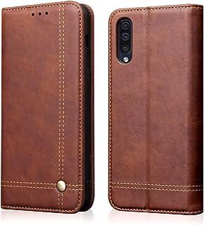 جراب Samsung Galaxy A50، جراب Galaxy A50S، جراب Galaxy A30S من جلد البولي يوريثان قابل للقلب بالكامل واقٍ مقاوم للصدمات مز...