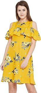 AASK Women's Knee Length Dress