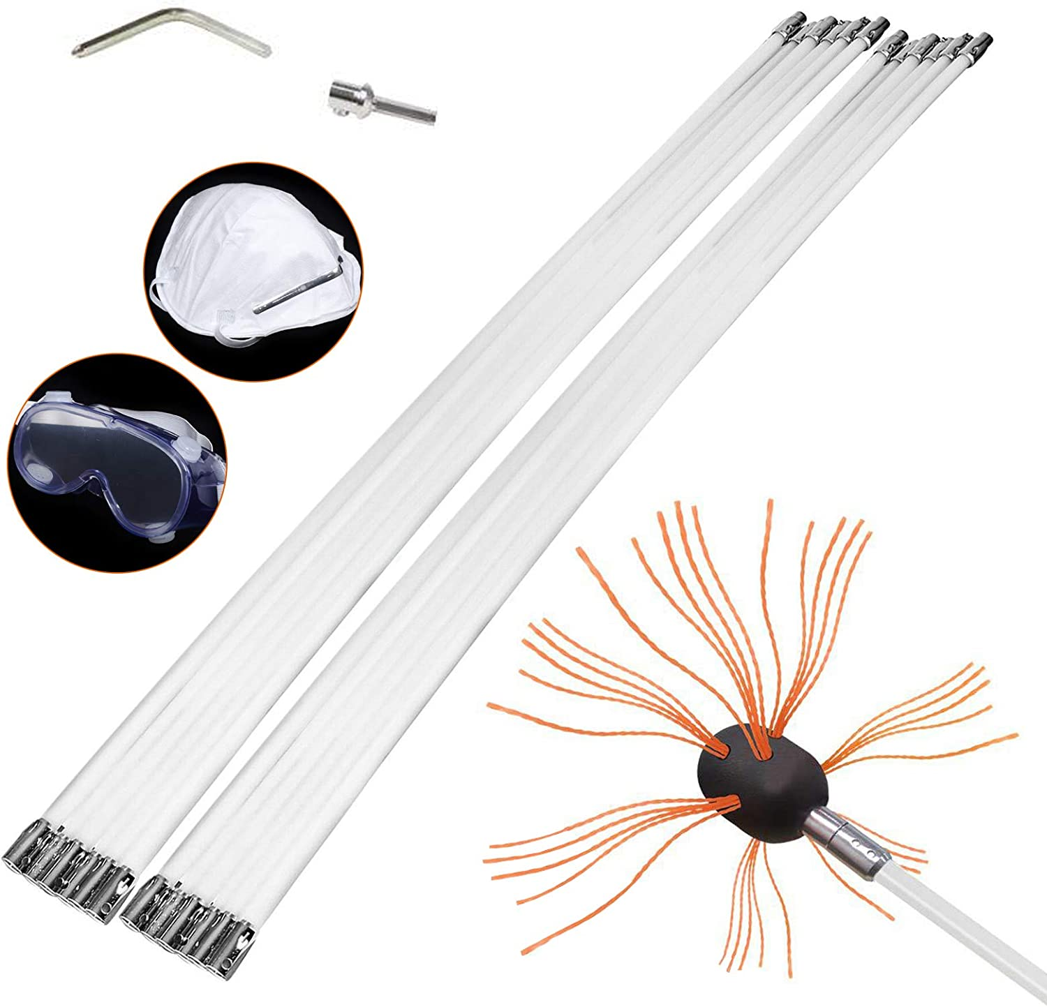 Flexible Chimney Rods Long Rod Cleaner Popular products Brush 40% OFF Cheap Sale Swe