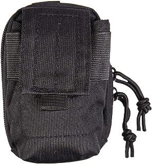 Cinturón Ejército Bolsa de la cubierta del teléfono de la cámara de bolsillo Utility Pouch MOLLE viaje camping Negro
