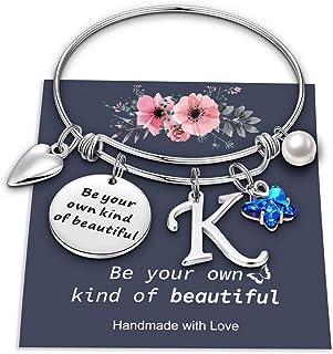 دستبند افسون پروانه برای زنان ، نوع خودتان باشید دستبند زیبا النگویی قابل انعطاف 26 نامه دستبند پروانه جذابیت اولیه برای دختران هدیه جواهرات شخصی