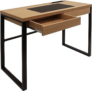 THE HOME DECO FACTORY HD3722 Bureau en et Metal + metal Bois 100x50,30x74 cm