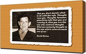 David Bohm Quotes 4 - Canvas Art Print