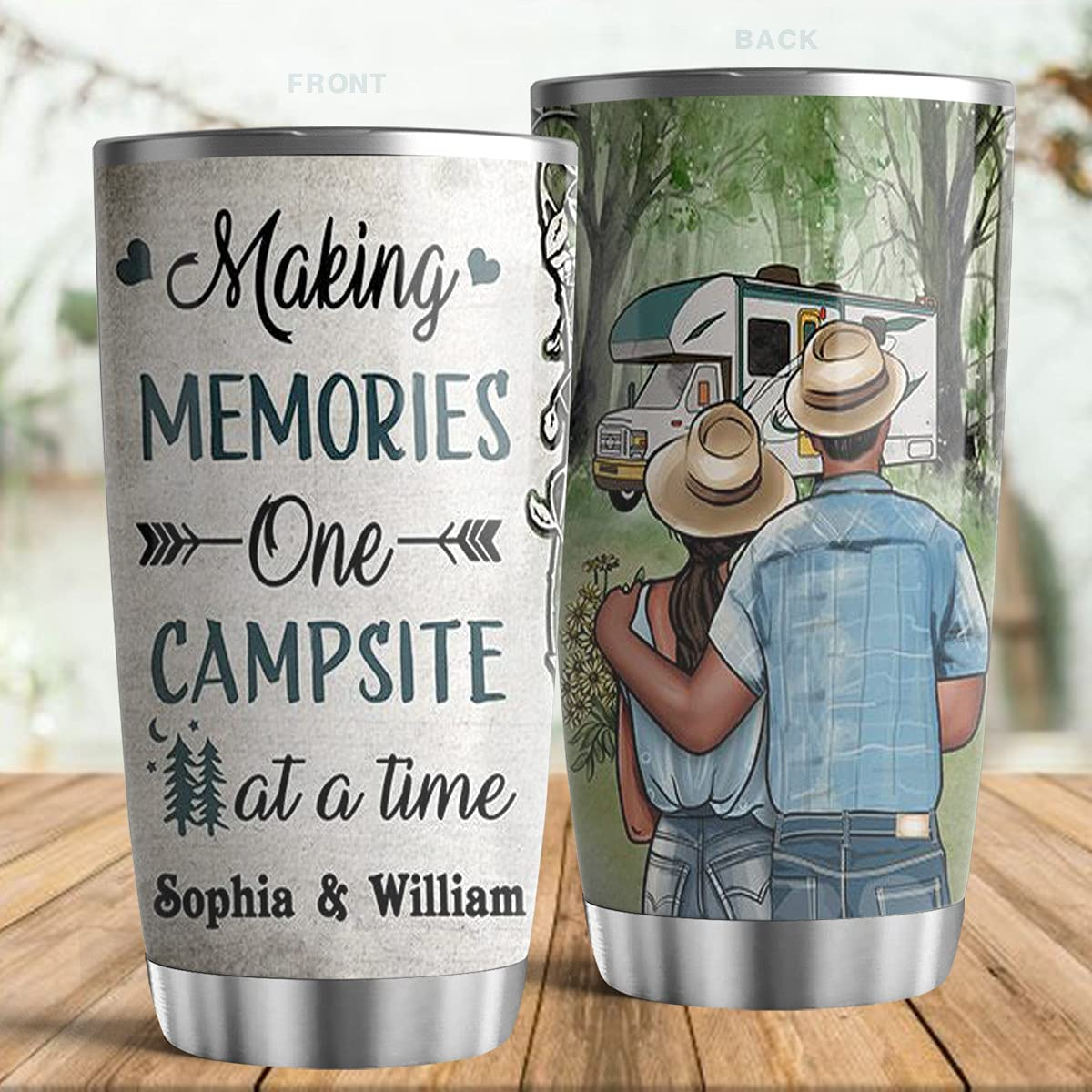 LeeGifts Personalized Camping Young Making Couple Max 52% OFF Custo Memories NEW