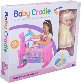 Baby Cradle Toy for Girls, Multi Color