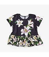 Lily Print Jersey and Poplin T-Shirt (Big Kids)