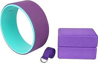 comprar comparacion Exerz Conjuntos de iniciación para Yoga 4 Piezas - 1 x Rueda de Yoga, 2 x Bloques de Yoga,1 x Cinturón - Yoga/Pilates y - ...