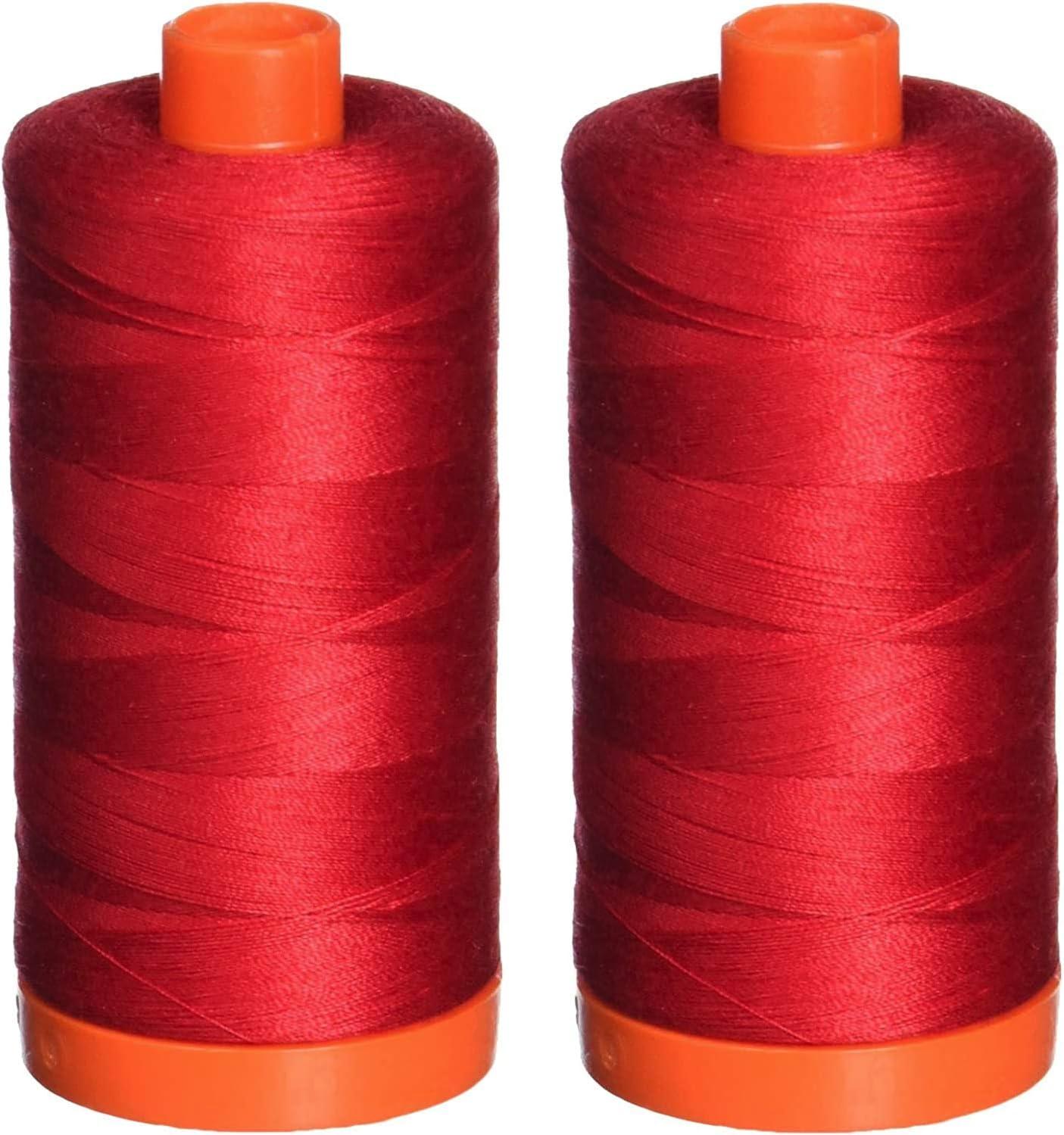 shopping Aurifil 50wt Mako Cotton Thread 1 - yards Ð Max 89% OFF A1050-2250 422 Red