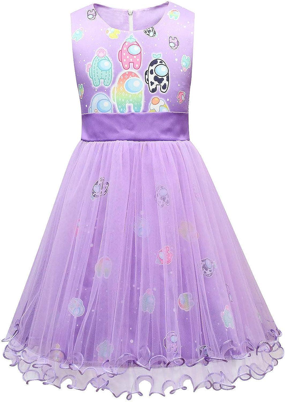 Ciafer Girls Princess Dress Sleeveless A-mong Game Us Tutu Dresses