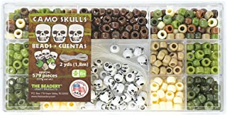 Beadery Plastic Bead Box Kit 6.25 oz Camo Skulls