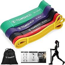 TOMSHOO Fitnessbanden, 100% natuurlatex, weerstandsbanden, elastische weerstandsbanden voor krachttraining, fitness, stret...