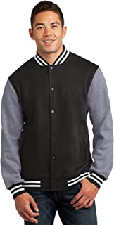 Sport-Tek Men's Comfortable Fleece Letterman Jacket