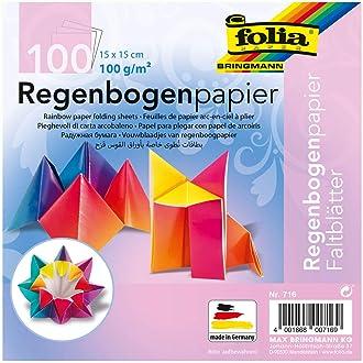 100 mm 70g//qm 100 Blatt farbig sortiert folia Faltblätter rund Durchmesser