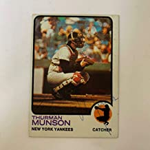 Thurman Munson Signed Autographed 1973 Topps Baseball Card With COA Yankees - JSA Certified - Baseball Slabbed Autographed Cards