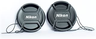 OMAX Lens Cap for Nikon AF-P 18-55 and 70-300mm Lenses with Thread - Set of 2