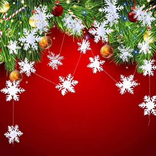 Best hanging paper snowflake decorations Reviews