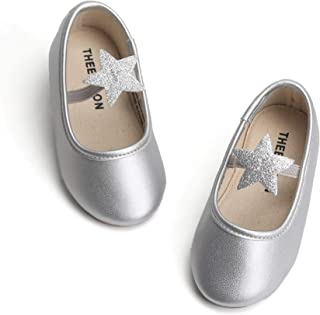 THEE BRON Baby-Girls Ballet Mary Jane Silver Size: 7 M US Toddler