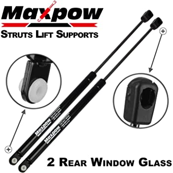 Amazon Com Maxpow 2 Pcs Gas Charged Rear Window Glass Lift Support Back Glass Window Support Struts Shocks 4676 Compatible With Expedition 1997 1998 1999 2000 2001 2002 Automotive