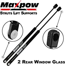 Maxpow 2 Pcs Gas Charged Rear Window Glass Lift Support 4676 Compatible With Jeep Grand Cherokee 1997 1998 1999 2000 2001 2002