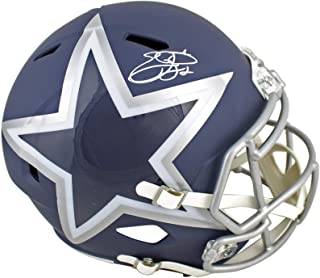 Cowboys Emmitt Smith Signed Alternate Amp Full Size Speed Rep Helmet BAS